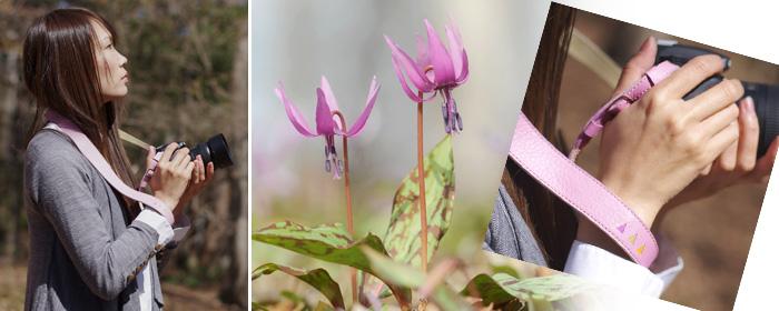 真吾さん&林英樹さんコラボ・カメラストラップ『春の森』 カタクリ イメージ